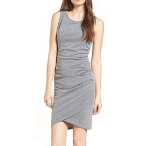 Nordstrom Leith Ruched Body-Con Tank Dress
